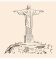 large statue christ vector image