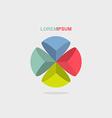 logo sphere color segment vector image vector image