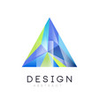 logo template of triangular abstract crystal vector image vector image
