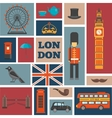 London Square Icon Set vector image