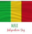 mali independence day background vector image