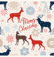 merry christmas greeting card background winter vector image vector image