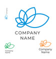 modern contour flower logo identity brand icon vector image vector image