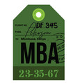 mombassa airport luggage tag vector image vector image