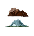 mountain landscape snow nature travel hiking peak vector image vector image