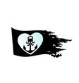 nautical pirate flag black for design with vector image