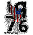 newyork athletic graphic design vector image vector image