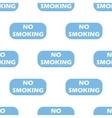 No smoking seamless pattern vector image vector image