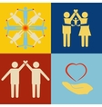 People support icon set vector image vector image