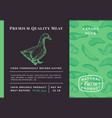 premium quality meat abstract poultry vector image vector image