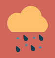 rain icon in trendy flat style isolated on grey vector image