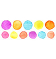 rainbow watercolor circles set watercolour vector image