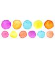 rainbow watercolor circles set watercolour vector image vector image
