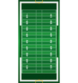 Realistic American Football Field vector image vector image