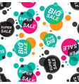 sale stickers seamless pattern background vector image