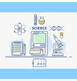 science colorful concept header vector image vector image
