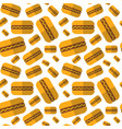 seamless pattern hot dogs ornament oktoberfest vector image