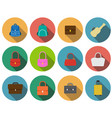 set of bag icons in flat style vector image