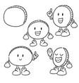 set of money cartoon vector image