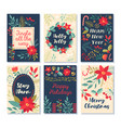set six christmas patterns and greetings vector image