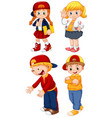 set student character vector image
