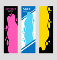 set vertical bright abstract banners poured vector image
