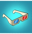 Stereo 3d glasses for cinema vector image