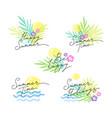 summer emblems lettering vector image vector image
