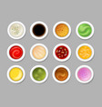 tasty dip sauces vector image