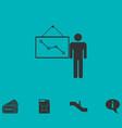 teacher icon flat vector image vector image