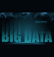 text big data concept design of signal emitting vector image