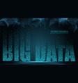 text big data concept design signal emitting vector image vector image