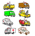 truck driver cartoon set vector image