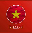 vietnam independence day waving flag on red vector image