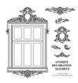 vintage architectural decoration elements for vector image vector image