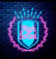 vintage back to school emblem vector image vector image