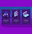 voice control card isometric set vector image vector image