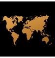 world map on black background doodle vector image vector image