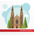 Church building icon in the flat style Roman vector image