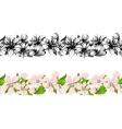 Horizontal seamless pattern with cherry blossoms vector image