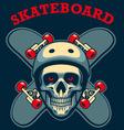 skull of skater vector image