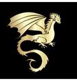 Stylized image of Dragon vector image