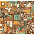 Abstract seamless pattern with geometric elements vector image