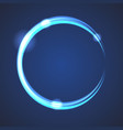 Glow effect eclipse circle vector image