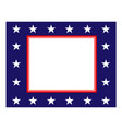 abstract american flag border vector image vector image