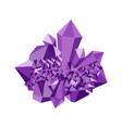 amethyst precious stone gemstone mineral vector image vector image