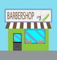 Barbershop building cartoon style vector image vector image