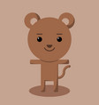 brown bear simple for logo design vector image