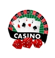 Casino emblem or badge vector image vector image