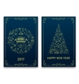 Christmas nd New Year greeting card vector image vector image